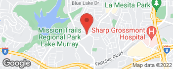 Map of 5680 Lake Murray Blvd in La Mesa