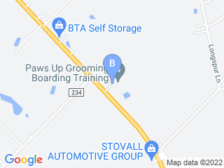 Map of Paws Up Boarding Dog Boarding options in Terrell | Boarding