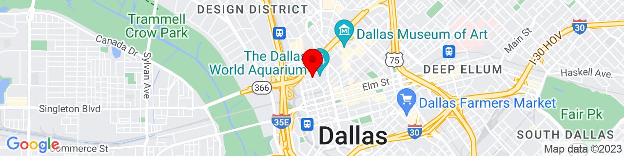 Google Map of 32.783055555555556, -96.80666666666666