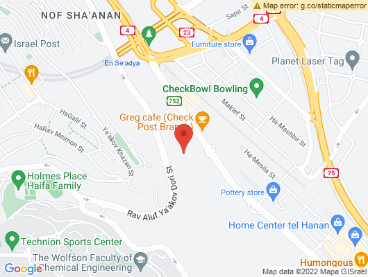 Google Map of דרך בר-יהודה 117, חיפה