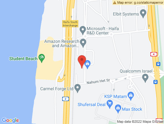 Google Map of חת נחום 16 חיפה