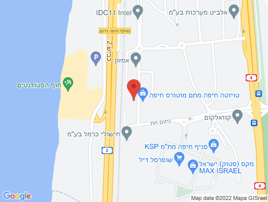 Google Map of חת נחום 16 חיפה