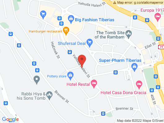 Google Map of רחוב יהודה הלוי 18, טבריה