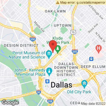 Map of Yext at 1919 McKinney Ave, Dallas, TX 75201