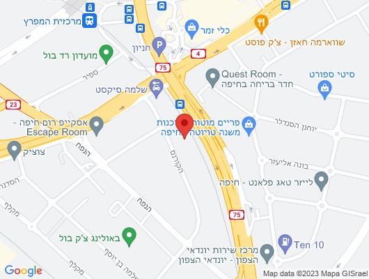 Google Map of בעלי המלאכה 6 חיפה