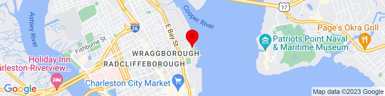 Google Map of 32.7912337, -79.9264446