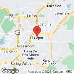 El Cajon Flood Zone Info on the map