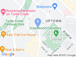 Map of The Dog Lofts   Uptown Dog Boarding options in Dallas | Boarding