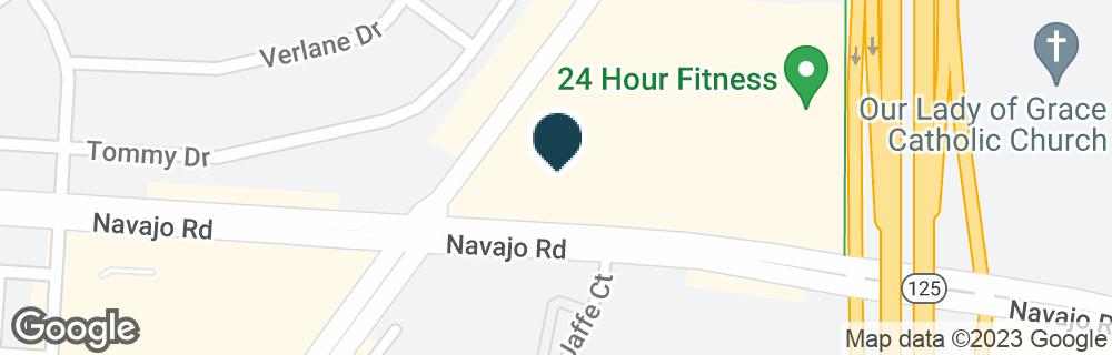 Google Map of8766 NAVAJO RD