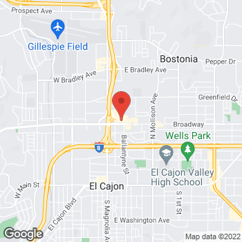 Map of Check `n Go Broadway at 336 Broadway, El Cajon, CA 92021