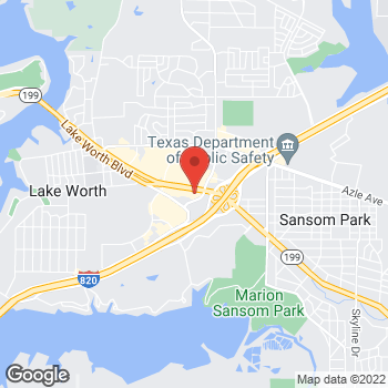 Map of Staples at 6313 Lake Worth Blvd., Lake Worth, TX 76135