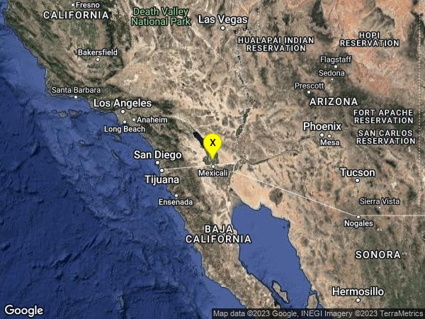earthquake 8km ENE of El Centro, CA