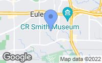 Map of Euless, TX