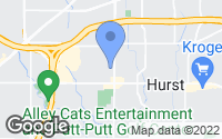 Map of Hurst, TX