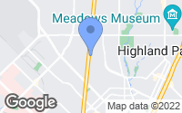 Map of Highland Park, TX