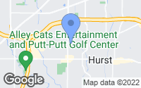Map of Hurst, TX