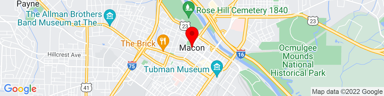 Google Map of 32.8406946, -83.6324022