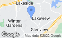 Map of Lakeside, CA