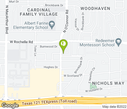 Map of 2700 N O'Connor Blvd in Irving