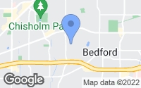 Map of Bedford, TX