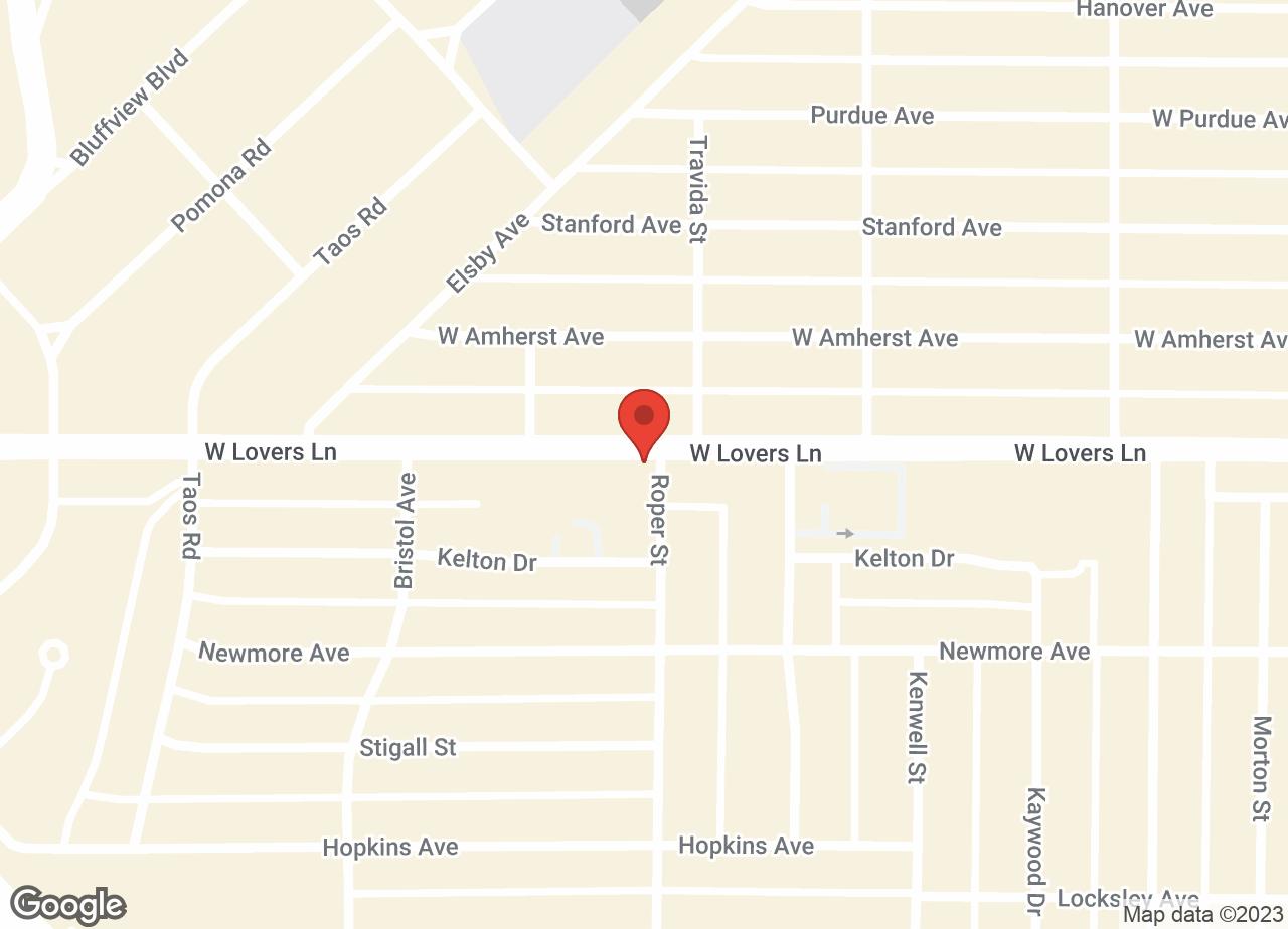 Google Map of VCA Lovers Lane Animal Hospital