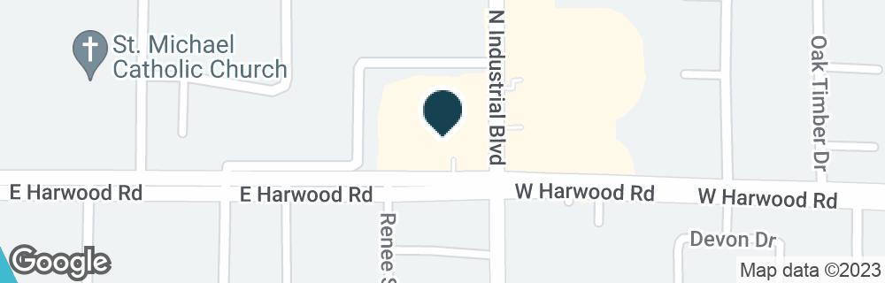 Google Map of4121 HARWOOD RD