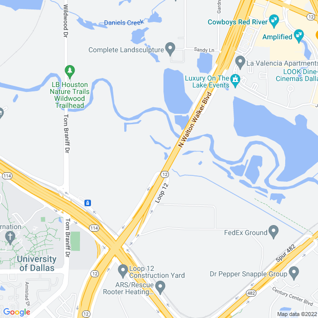 Map of Loop 12 Express Lanes