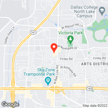 Map of Pizza in Irving, TX – Cicis Pizza at 3435 N. Belt Line Road, Irving, TX 75062