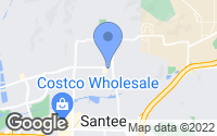 Map of Santee, CA