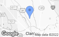 Map of Clanton, AL