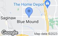 Map of Blue Mound, TX