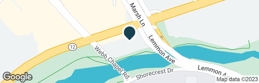 Google Map of3732 W NORTHWEST HWY