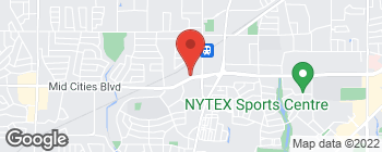 Map of 7801 Mid Cities Blvd in North Richland Hills