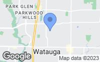 Map of Watauga, TX