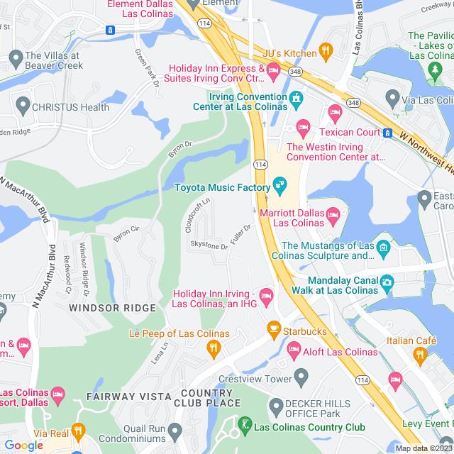 Map of Toll Road   John W Carpenter Freeway