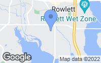 Map of Rowlett, TX