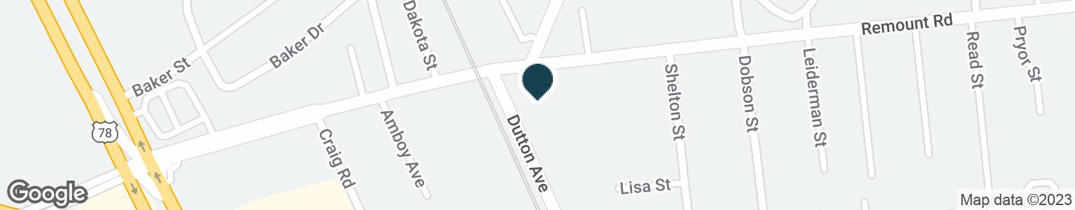 Google Map of1861 REMOUNT RD