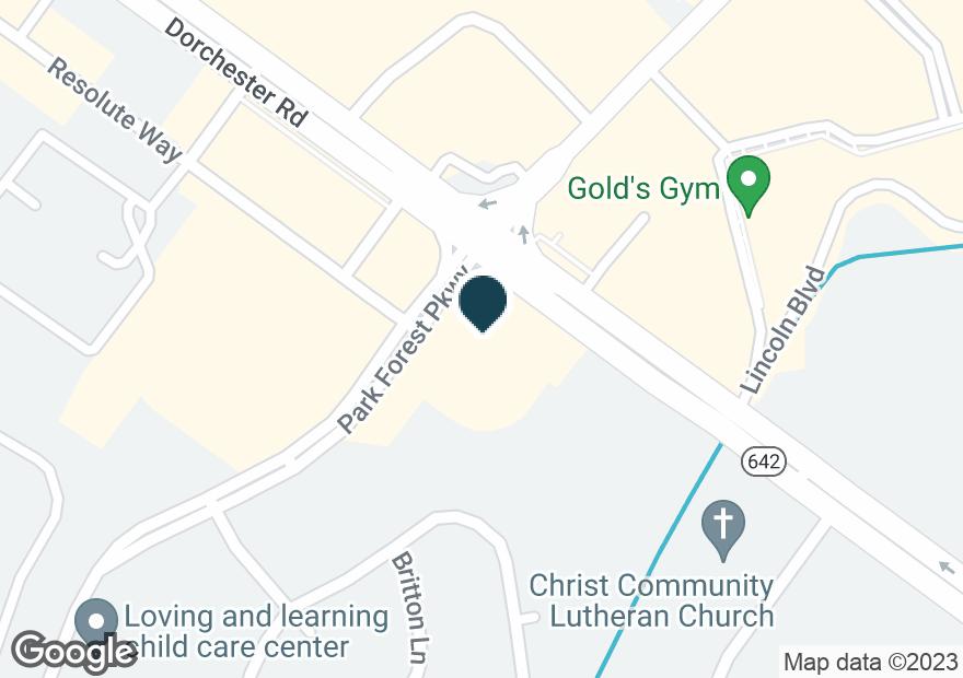 Google Map of8395 DORCHESTER RD
