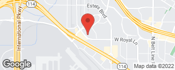 Map of 5005 W Royal Ln in Irving