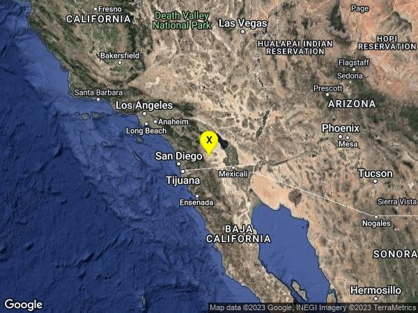 earthquake 26km SSW of Ocotillo Wells, CA