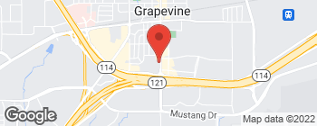 Map of 1340 S Main St in Grapevine