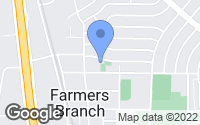 Map of Farmers Branch, TX
