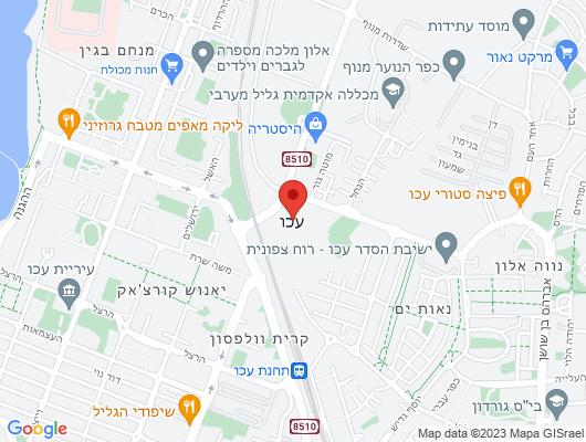 Google Map of רחוב בולטימור א.ת עכו דרום