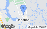 Map of Hanahan, SC
