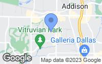 Map of Addison, TX