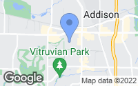 Map of Addison, TX