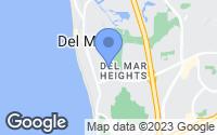 Map of Del Mar, CA