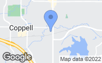 Map of Coppell, TX