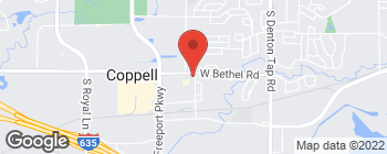 Map of 709 S Coppell Rd in Coppell