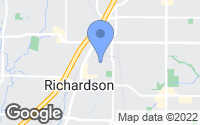 Map of Richardson, TX